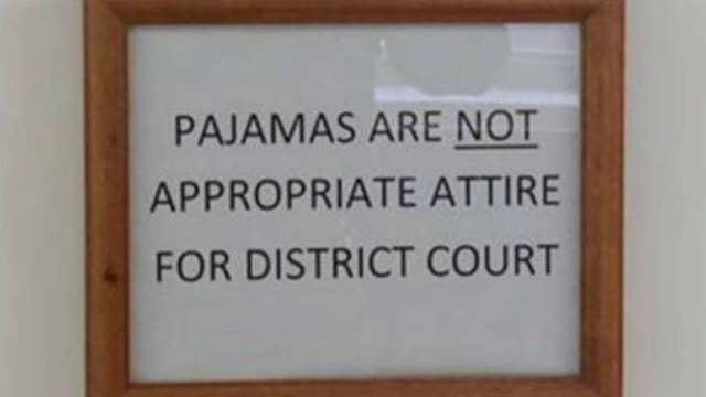 Pa. judge orders people to stop wearing pajamas to court