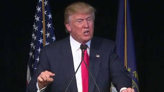 Donald Trump let it fly at all career politicians