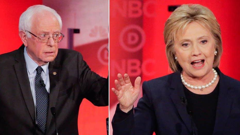 Clinton, Sanders spar over rights to 'progressive' label