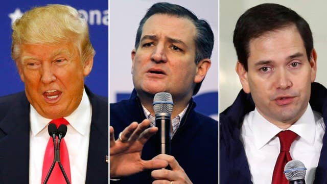 Trump, Cruz up attacks on Rubio, each other ahead of primary