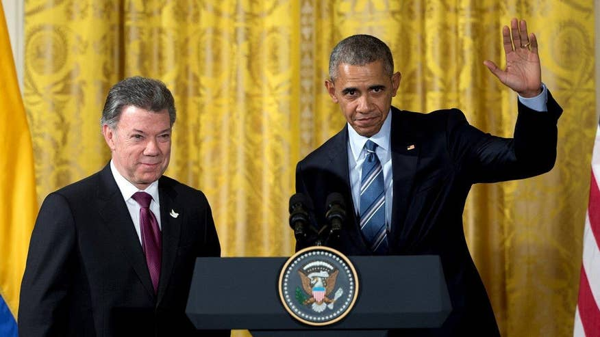 Colombian president Juan Manuel Santos weighs in on 'Fox & Friends' after an official visit with President Obama