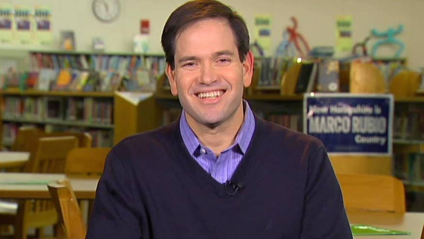 GOP presidential candidate Marco Rubio goes 'On the Record' on the latest polls showing him making gains in New Hampshire primary race, being a target among rivals before the next debate and more