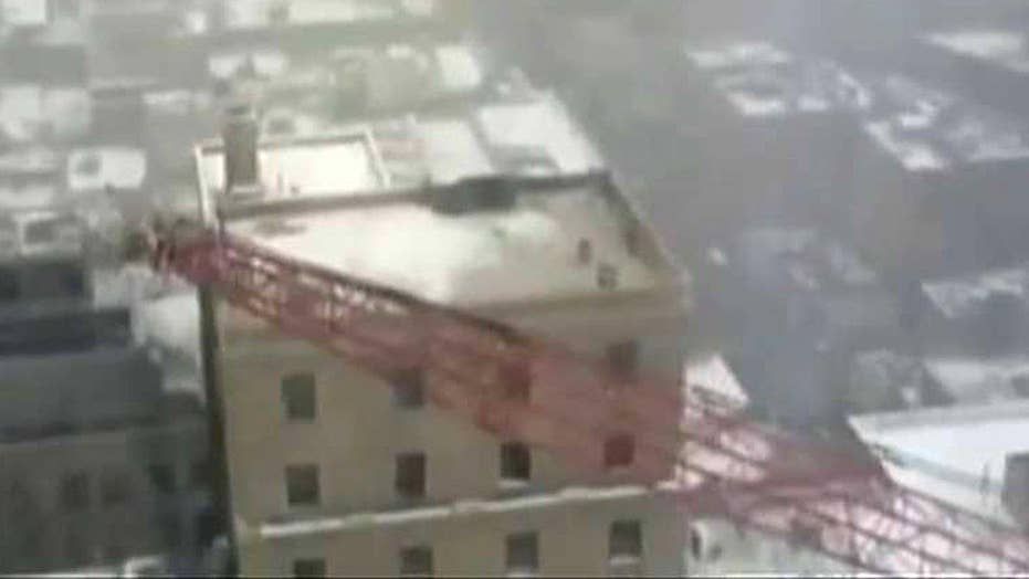 Onlookers witness deadly crane collapse in NYC
