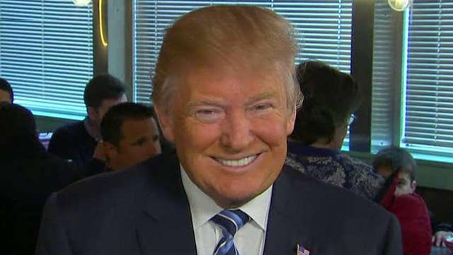 Donald Trump on leading in the polls ahead of NH primary