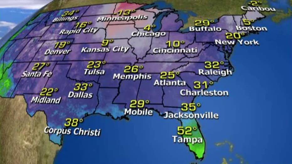 National forecast for Tuesday, February 9