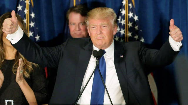 Donald Trump on his primary win, state of the 2016 race