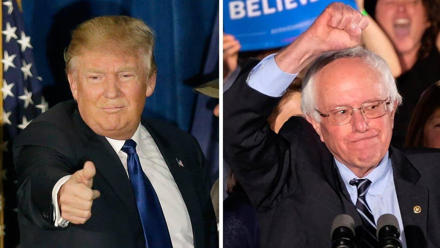 Donald Trump, Bernie Sanders sweep to victory