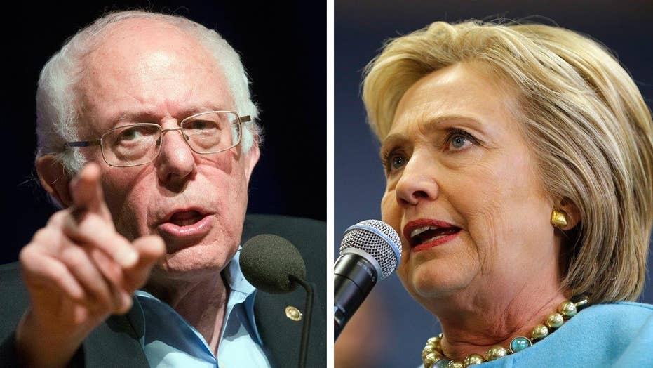 Hillary Clinton and Bernie Sanders tied in national polls