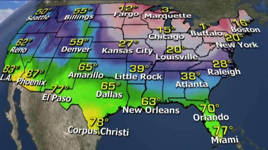 National forecast for Wednesday, February 10