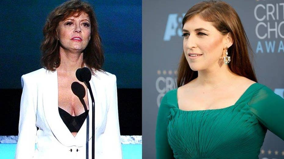 Mayim Bialik defends Susan Sarandon's cleavage