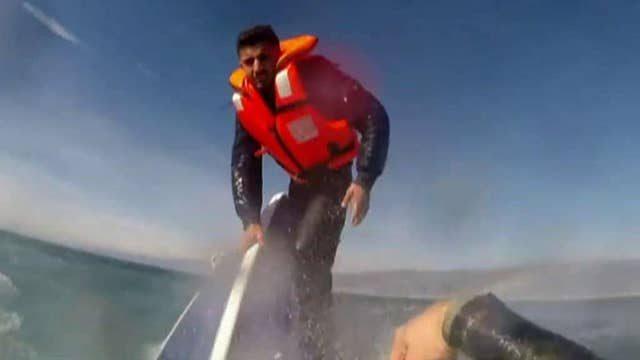 Syrian refugee rescued from sinking boat