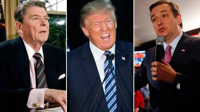 GOP presidential candidates ignore Reagan's 11th Commandment