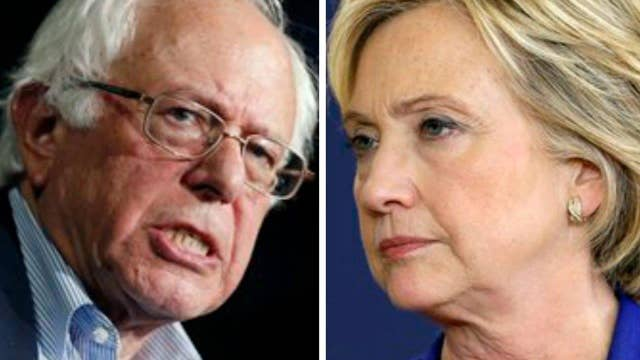 Hillary Clinton and Bernie Sanders courting voters