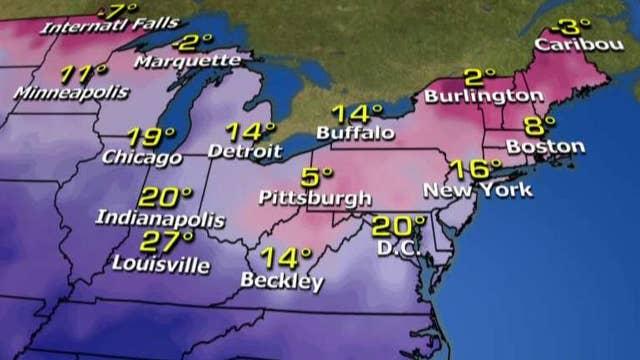 National forecast for Friday, February 12