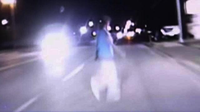 Cop on dash cam: 'I think I hit a person'