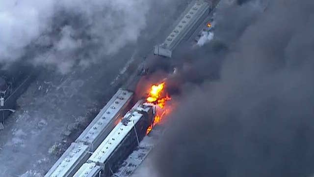 New Jersey industrial park on fire for more than 16 hours