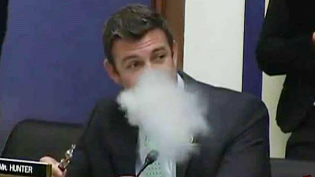 Rep. Duncan Hunter vapes during House hearing