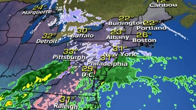 National forecast for Monday, February 15