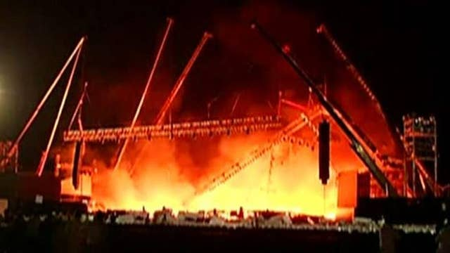 Fire engulfs stage at Indian cultural event