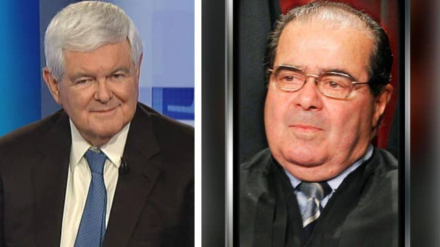 Gingrich's take: battle lines over replacing Scalia