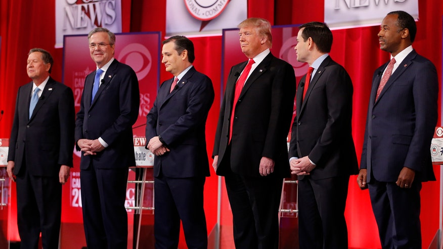Republican presidential candidates clash in final debate before primary