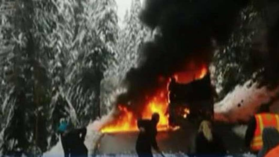 Bus full of students in Washington bursts into flames