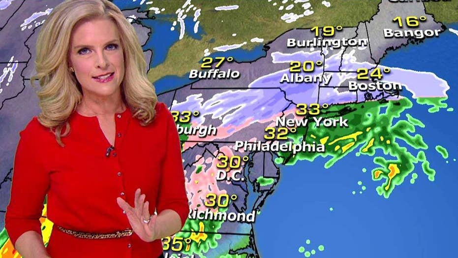 Snow, ice and rain slam East Coast