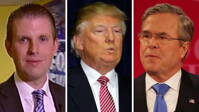Eric Trump on his father's growing feud with Jeb Bush