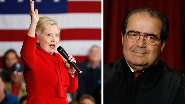 Will the Supreme Court vacancy aid Hillary Clinton?