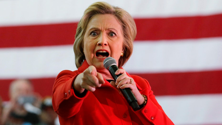 Clinton barks to mock Republican candidates