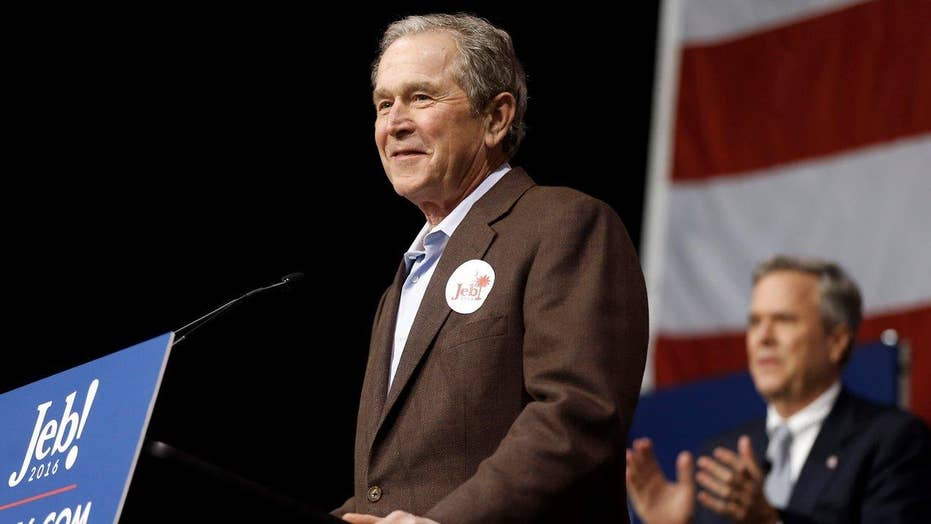 George W. Bush campaigns for Jeb, takes stab at The Donald