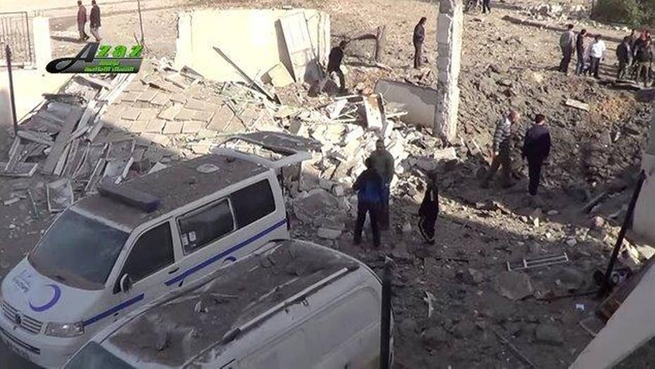 Blame game begins after deadly bombing of hospital in Syria