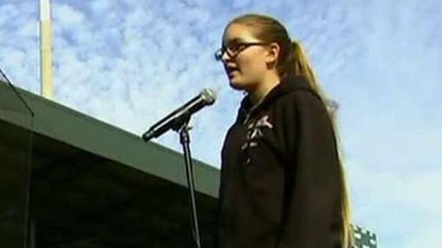 National anthem tryouts