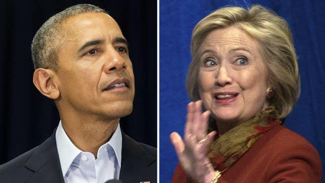 Did Obama offer Hillary Clinton a semi-endorsement?