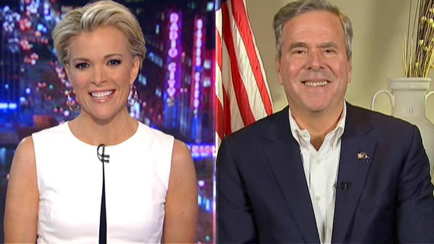 Jeb Bush goes on 'The Kelly File' to talk South Carolina primary, reacts to reports that Obama will visit Cuba