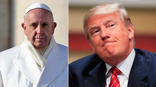 Donald Trump is now in a beef with Pope Francis