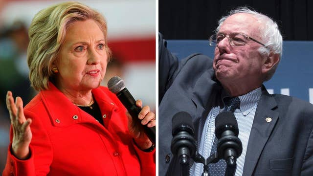 Bernie Sanders leading Hillary Clinton nationally