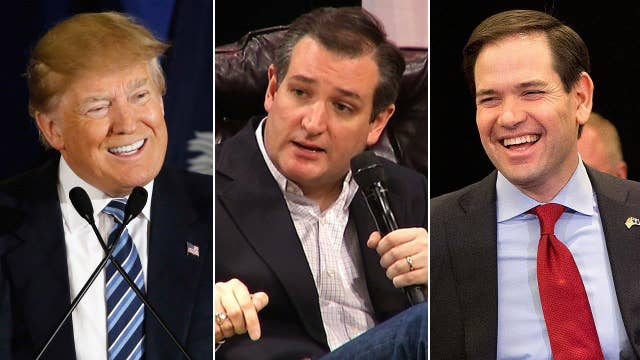 Trump leads in South Carolina, Rubio and Cruz vie for second