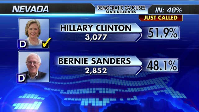 Hillary Clinton projected winner of Nevada caucuses