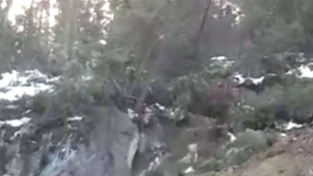 Video captures moment of impact in 14 ton landslide
