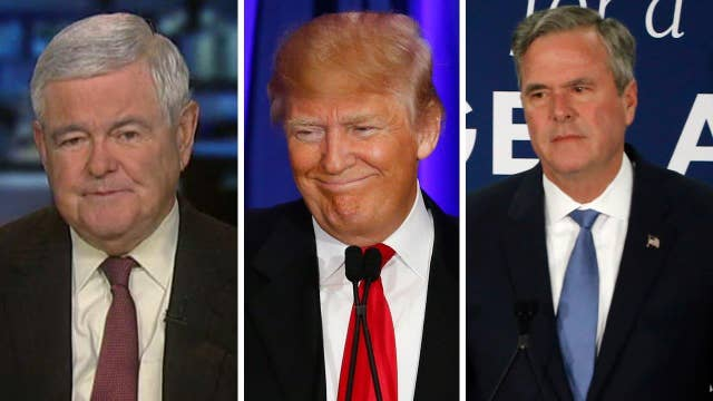 Newt Gingrich on Trump's SC win, Jeb Bush dropping out