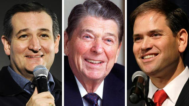 GOP candidates invoke Ronald Reagan on campaign trail