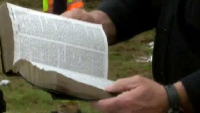 Bible undamaged after SUV explodes