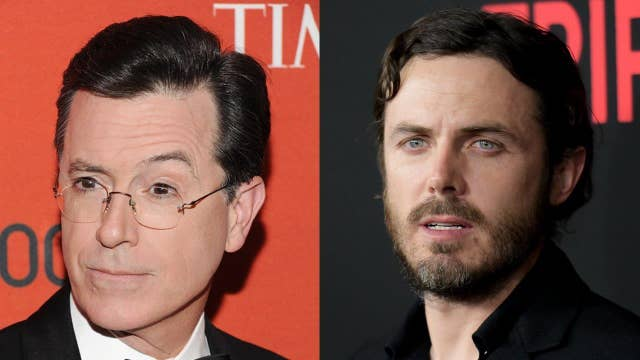 Why are Casey Affleck and Stephen Colbert fighting?