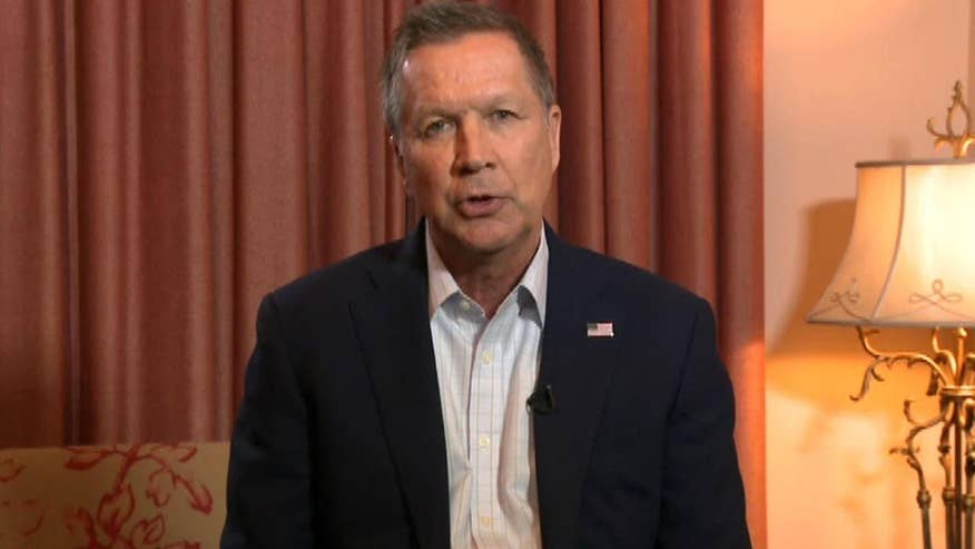 Ohio governor talks state of his campaign, takes question on healthcare at 'Kelly File' town hall