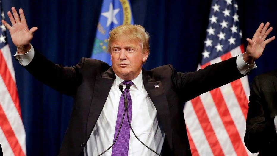 Donald Trump towers in Nevada caucus