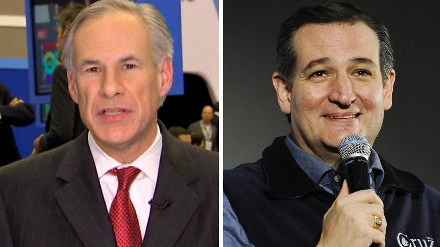 Texas Governor Greg Abbott goes 'On the Record' on why he endorsed Ted Cruz, whether he will avoid being defeated by Trump in his own state on Super Tuesday and whether he has enough to defeat 'The Donald'