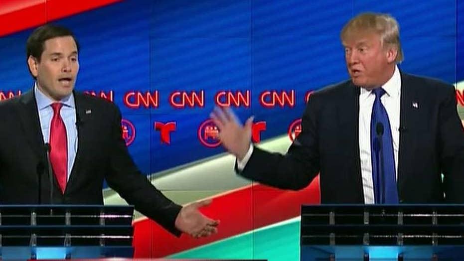 Rivals rip Trump at final GOP debate before Super Tuesday
