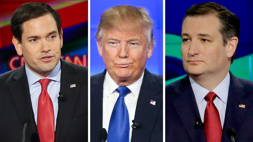 Rubio, Cruz tag team against the business mogul in pre-Super Tuesday debate