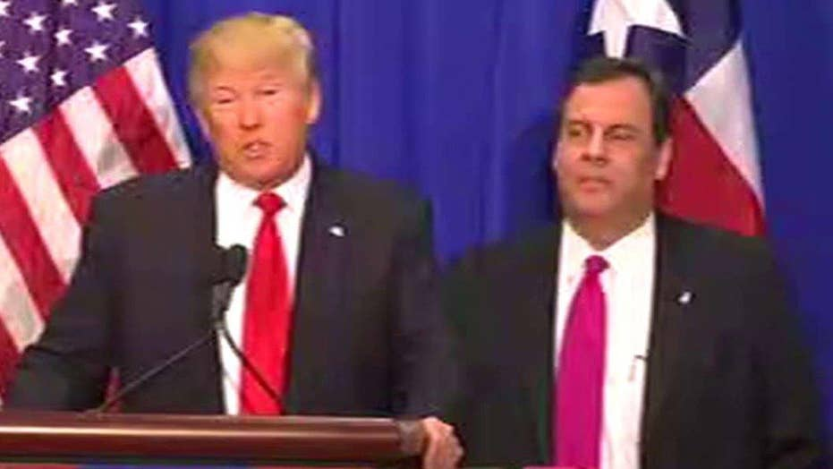 Gov. Chris Christie endorses Donald Trump for president